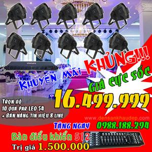 Trọn bộ đèn sân khấu giá rẻ, par led 54 giá rẻ