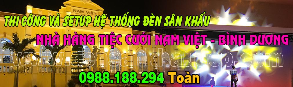 Lắp đặt và Setup đèn sân khấu cho nhà hàng tiệc cưới Nam Việt