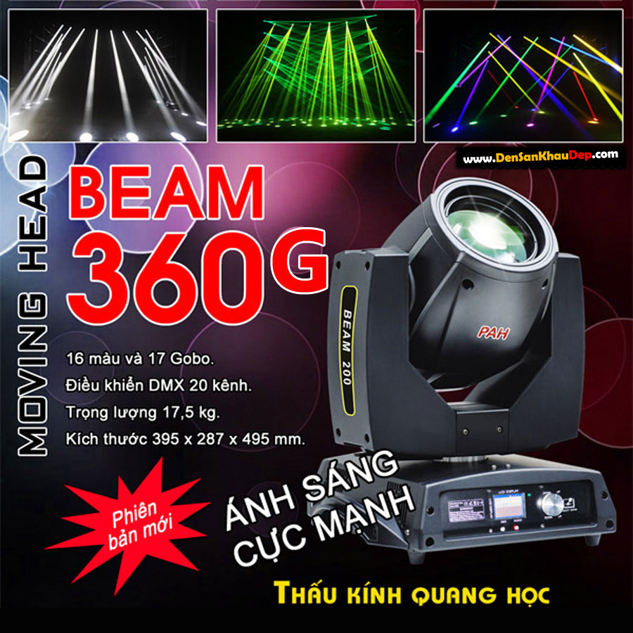 Đèn sân khấu moving head beam 360G