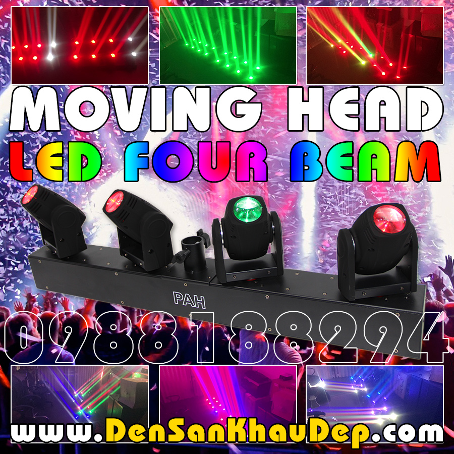 Đèn Moving Head LED Four Beam trang trí Karaoke VIP
