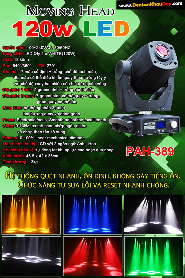 Đèn moving head 120W Led siêu sáng