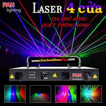 Laser 4 cửa Legal RGBP quét tia