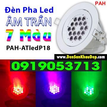 Đèn Pha Led Âm Trần 7 Màu