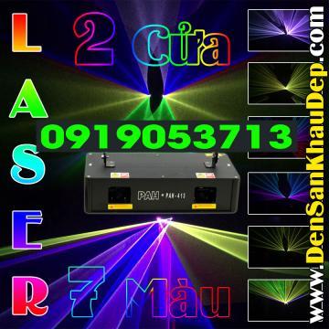 Đèn Laser 2 cửa 7 màu độc đáo