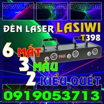 Đèn Laser 6 cửa 3 màu 2 kiểu quét