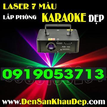 Laser quét tia 7 màu trang trí Karaoke