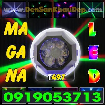 Đèn LED xoay 6 mắt Magana siêu sáng