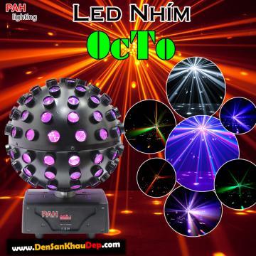 LED nhím quay Octo