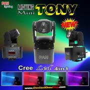 Đèn moving head mini TONY 4in1 LED Cree