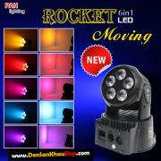 Đèn Rocket moving head 6in1 led