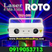 Đèn Laser Vũ Trường Roto 4 Mắt 3 Màu