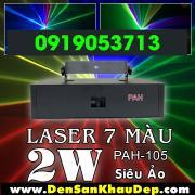 Đèn Laser Công Suất Cao 2W 7 Màu siêu mạnh