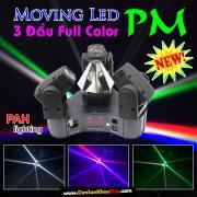 Đèn sân khấu moving LED 3 đầu