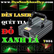 Đèn Laser 2 màu xanh lá và đỏ quét tia giá rẻ