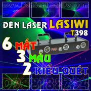 Đèn Laser 6 cửa 3 màu 2 kiểu quét trang trí sân khấu VIP, Karaoke VIP, Cafe DJ