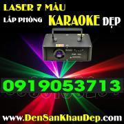 Đèn Laser 7 màu quét tia trang trí Karaoke đẹp và sôi động