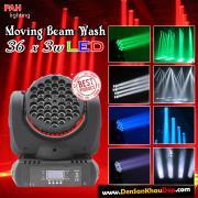 Đèn moving head Wash 36*3W RGBW cho beer club, cafe DJ, sân khấu nhà hàng tiệc cưới