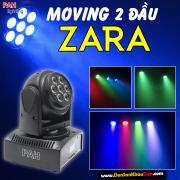 Moving 2 đầu với 2 mặt LED 7 bóng siêu sáng full màu 3in1