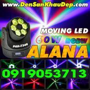 Đèn Moving Head LED 60W ALANA với 6 mắt trang trí Karaoke, BeerClub, Cafe DJ